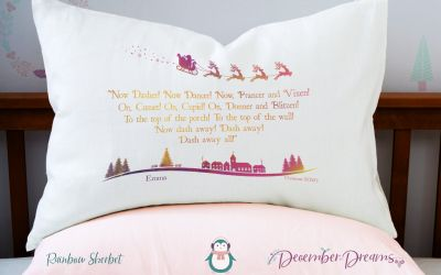 Rainbow Sherbet Rainbow Pillowcase