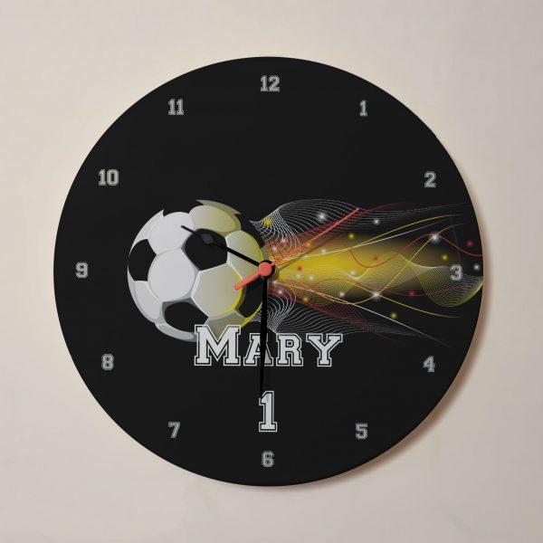 Personalised Football Clock - Personalised with Name