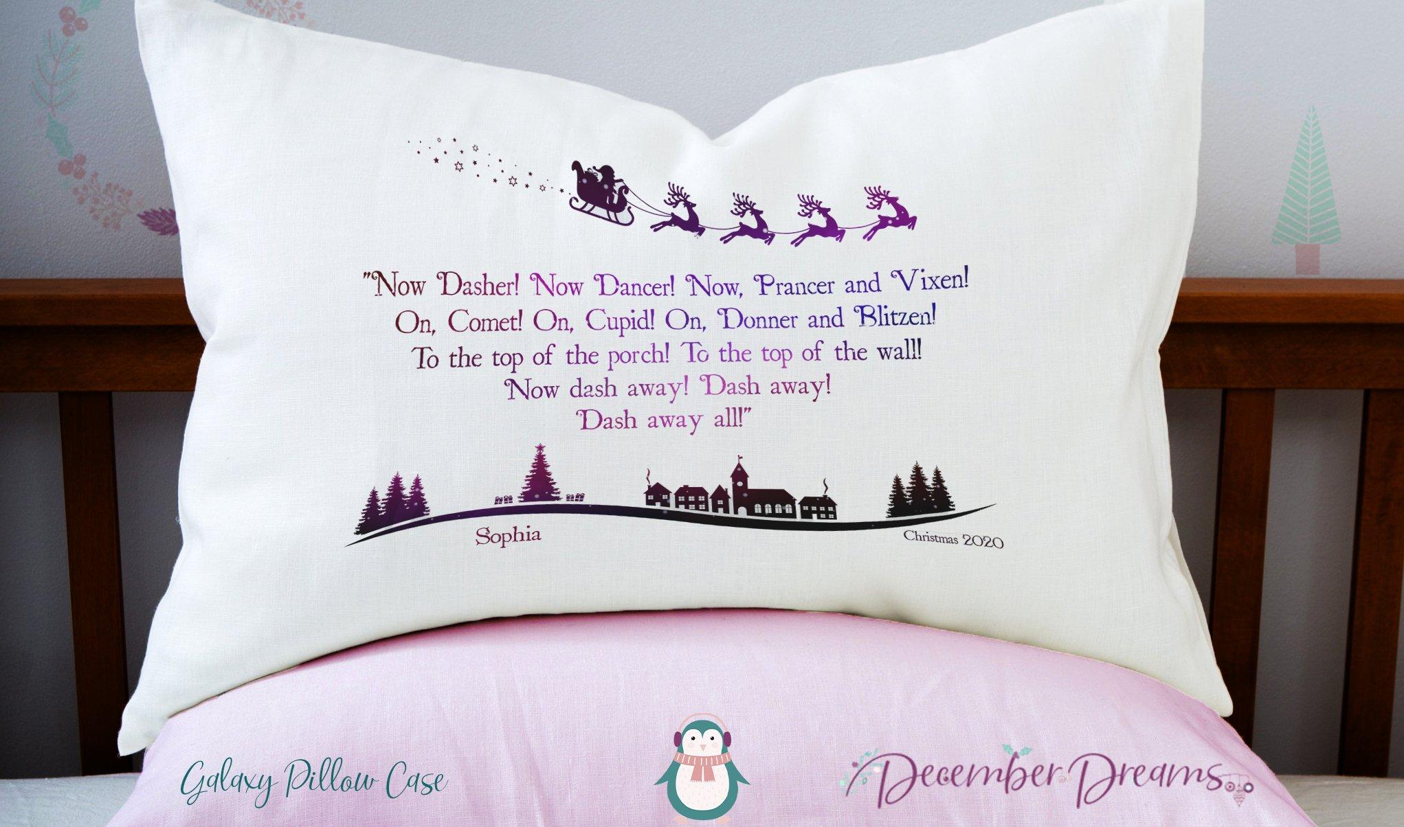Galaxy Reindeer Pillowcase