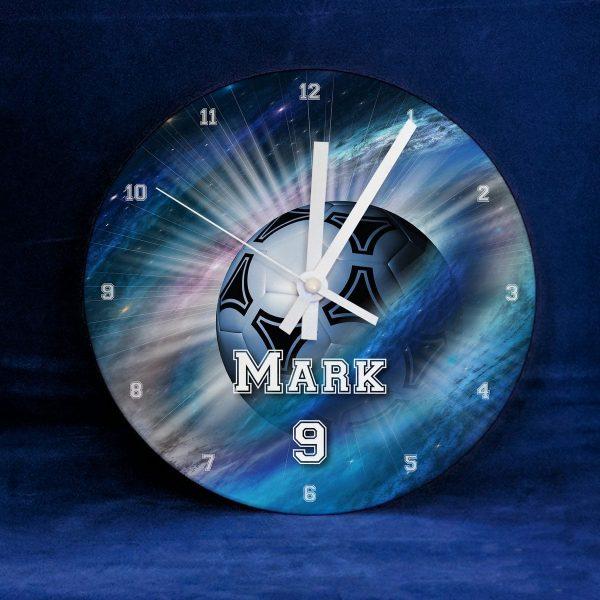 Name Personalised Football Galaxy Clock