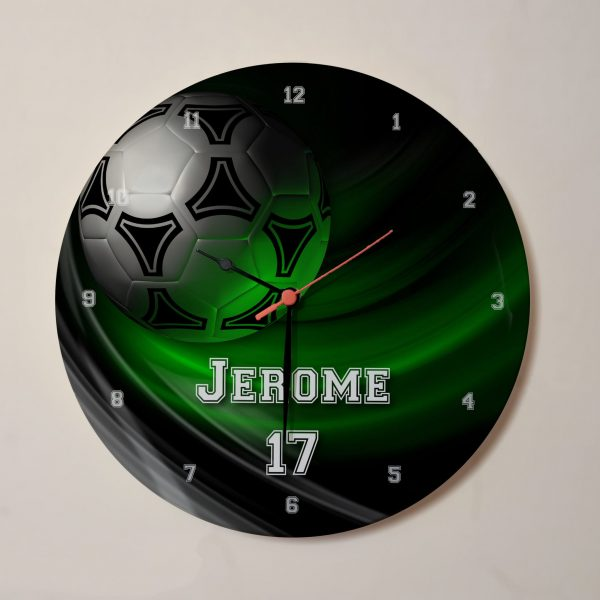 Name personalised football clock