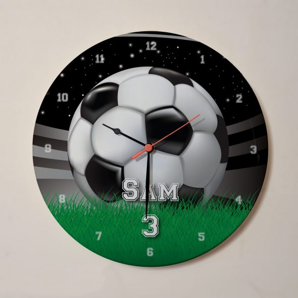 Personalised Name football clock with pitch